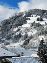 Aussicht Haus Auszeit zum Skilift